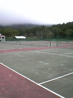 斑尾のテニスコート