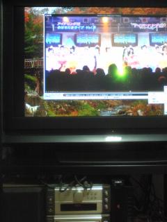 テレビ画面上でパソコンの動画を再生