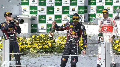 ブラジルGP表彰台