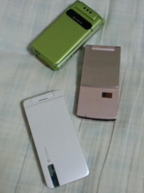 昔使ってた携帯