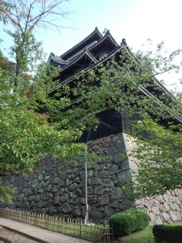 松江城の裏側