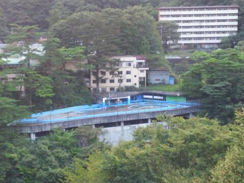 鬼怒川温泉のホテルのプール跡