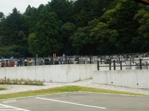 浪江町の墓地
