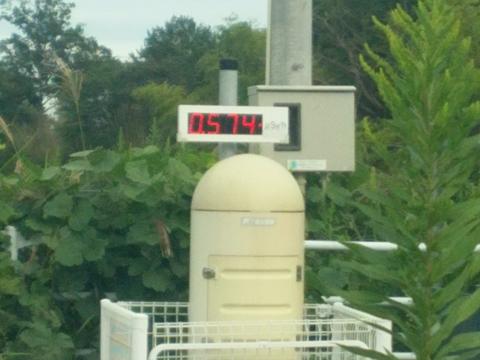 双葉町の放射線量